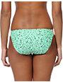 Malibu Warrior Dance Mint & Coral Side Strap Bikini Bottom