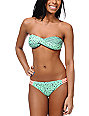 Malibu Warrior Dance Mint Twist Bandeau Bikini Top