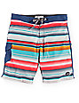 Matix Cortez Blue and Multi Board Shorts