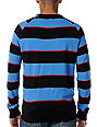 Matix Marc Johnson Big Stripe Black & Blue Crew Neck Sweater