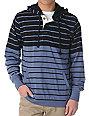 Matix Range 2 Dark Ash Blue Striped Pullover Hoodie