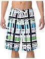 Matix Ringtong 21 White & Blue Board Shorts