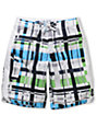 Matix Ringtong 21 White & Blue Board Shorts