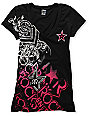 Metal Mulisha x Rockstar Coalition Black V-Neck T-Shirt