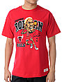 NBA Mitchell and Ness Bulls Dennis Rodman Caricature Red T-Shirt
