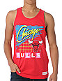NBA Mitchell and Ness Bulls Neon Red Tank Top