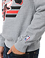 NBA Mitchell and Ness Bulls Stadium Grey Crew Neck Sweatshirt