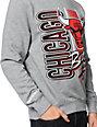NBA Mitchell and Ness Bulls Zip Zag Grey Crew Neck Sweatshirt