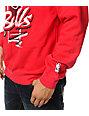 NBA Mitchell and Ness Bulls Zip Zag Red Crew Neck Sweatshirt