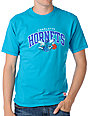 NBA Mitchell and Ness Charlotte Hornets Arch Turquoise T-Shirt