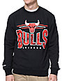 NBA Mitchell and Ness Chicago Bulls Black Crew Neck Sweatshirt