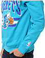 NBA Mitchell and Ness Hornets Stadium Blue Crew Neck Sweatshirt