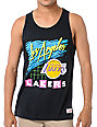 NBA Mitchell and Ness Lakers Neon Black Tank Top