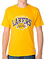 NBA Mitchell and Ness Los Angeles Lakers Arch Yellow T-Shirt