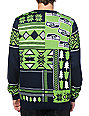 NFL Forever Collectibles Seahawks Patches Sweater