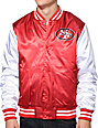 NFL Mitchell and Ness 49ers Red Sublimated Jacket