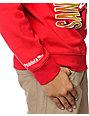 NFL Mitchell and Ness 49ers Zip Zag Red Crew Neck Sweatshirt