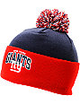 NFL Mitchell and Ness New York Giants Pom Beanie