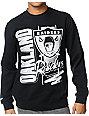 NFL Mitchell and Ness Raiders Zip Zag Black Crew Neck Sweatshirt