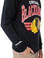 NHL Mitchell and Ness Blackhawks Stadium Crew Neck Sweatshirt