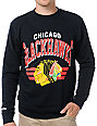NHL Mitchell and Ness Blackhawks Stadium Crew Neck Sweatshirt