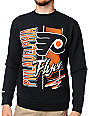 NHL Mitchell and Ness Flyers Zip Zag Black Crew Neck Sweatshirt