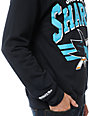 NHL Mitchell and Ness Sharks Stadium Crew Neck Sweatshirt