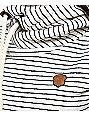 Naketano Murder He Wrote II Oatmeal Striped Hoodie