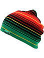 Neff Border Rasta & Black Striped Beanie