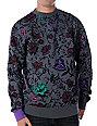 Neff Bouquet Grey Crew Neck Sweatshirt