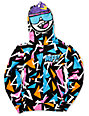 Neff Boys Retro Multicolored Full Zip Face Mask Hoodie