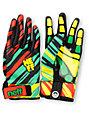Neff Chameleon Rasta Black Pipe Snowboard Gloves