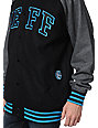 Neff Champ Black & Grey Hooded Varsity Jacket