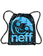 Neff Corpo Black& Speckle Blue Drawstring Bag