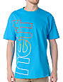 Neff Corporate Fade Turquoise T-Shirt