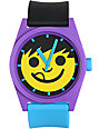 Neff Daily Pieced Smiley Purple & Yellow Analog Watch