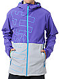 Neff Daily Purple & Grey 10K Technical Softshell Snowboard Jacket