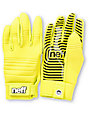 Neff Daily Tennis Yellow Pipe Snowboard Gloves