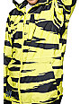 Neff Destroyer 10k Yellow & Black Tiger Stipe Snowboard Jacket