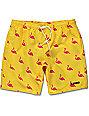 Neff Facets Flamingo Yellow Board Shorts