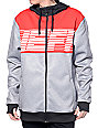 Neff Flint Shredder Red, Grey, and Black Tech Fleece Jacket