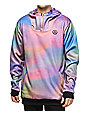 Neff Hero Shredded Pastel Tech Fleece Anorak Jacket