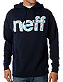 Neff Mens Zap Navy Pullover Hoodie