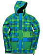 Neff Rad Plaid 10K Green & Blue Softshell Snowboard Jacket