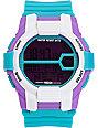 Neff Recon Teal & Purple Digital Watch