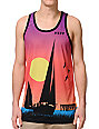 Neff Sailin Print Orange Tank Top