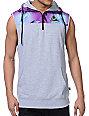Neff Scribble Grey Half Zip Vest Hoodie