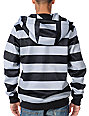 Neff Shredder Black & Grey Stripe Mens Tech Fleece Jacket