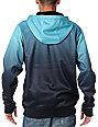 Neff Shredder Fade Turquoise Mens Tech Fleece Jacket