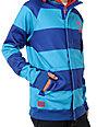 Neff Stripe Blue & Aqua Zip Up Tech Fleece Jacket